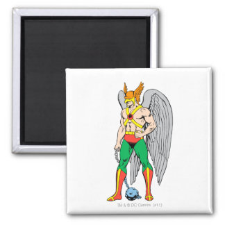 Hawkman Standing Pose 2 Inch Square Magnet
