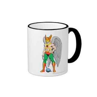 Hawkman Standing Pose Ringer Coffee Mug