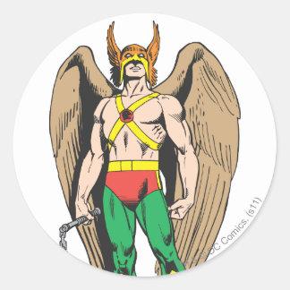 Hawkman Round Sticker