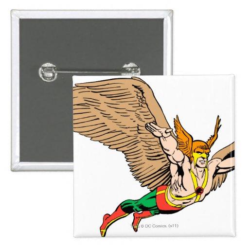 Hawkman vuela pin cuadrado