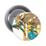 Hawkman y Hawkwoman Pin Redondo De 2 Pulgadas