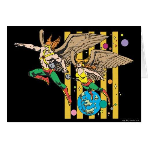 Hawkman y Hawkwoman Tarjeta De Felicitación