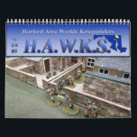 """HAWKs 2019 Miniatures Gaming Wall Calendar<br><div class=""""desc"""">2019 wall calendar from the Hartford Area Weekly Kriegspielers (HAWKs),  a miniatures gaming club based in Aberdeen,  Maryland.  Proceeds from this calendar will be used to support the HAWKs Armies for Kids project.</div>"""
