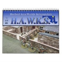 HAWKs 2019 Miniatures Gaming Wall Calendar
