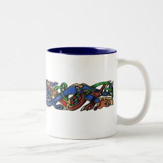 Hawks and Hounds Two-Tone Coffee Mug