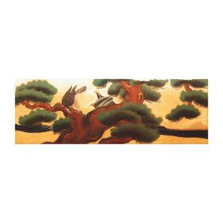 Hawks and Pine Trees by Kano Tanyu Lona Estirada Galerías