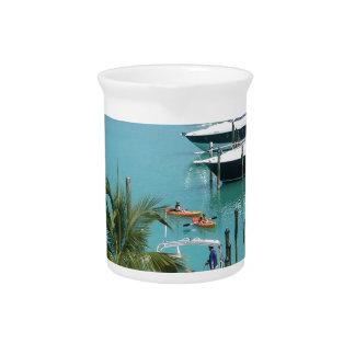 Hawk's Cay Marina Beverage Pitcher