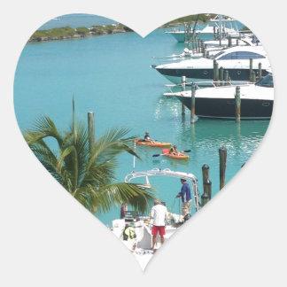 Hawk's Cay Marina Heart Sticker