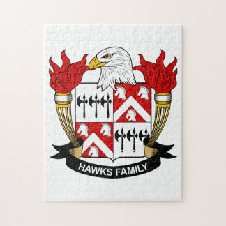 Hawks Family Crest Puzzles
