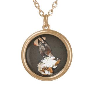 Hawks Hunt Vintage Gold Plated Necklace