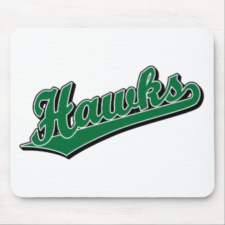 Hawks in Green Mouse Pad