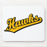 Hawks in Orange Mouse Pads