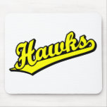 Hawks in Yellow Mouse Pads