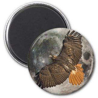 Hawks Moon 2 Inch Round Magnet