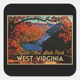 Hawks Nest SP West Virginia Square Sticker