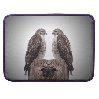 Hawks on a post MacBook pro sleeves