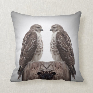 Hawks on a post pillow