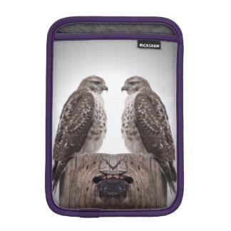Hawks on a post sleeve for iPad mini
