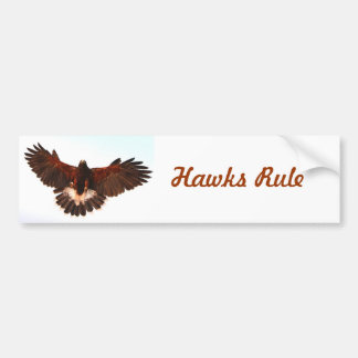 Hawks Rule Bumper Sticker