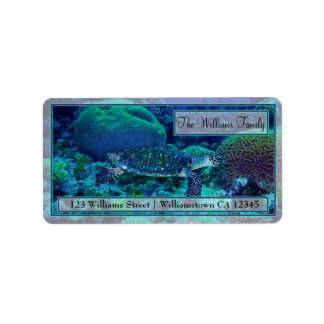 Hawksbill Sea Turtle Address Labels