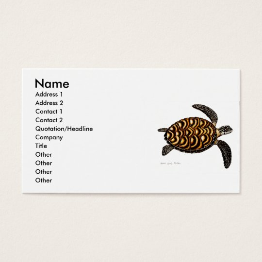 Hawksbill Sea Turtle Business Card