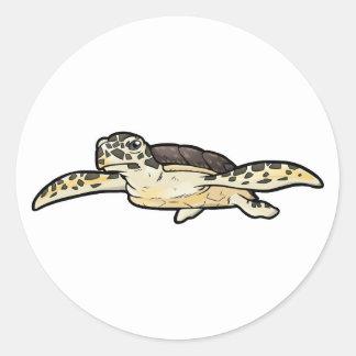 Hawksbill Sea Turtle Classic Round Sticker