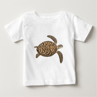 Hawksbill Sea Turtle color Baby T-Shirt