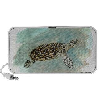 Hawksbill Sea Turtle Doodle Speaker