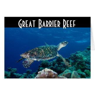 Hawksbill Sea Turtle Great Barrier Reef Coral Sea Greeting Card