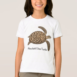 Hawksbill Sea Turtle Kids Ringer T-Shirt