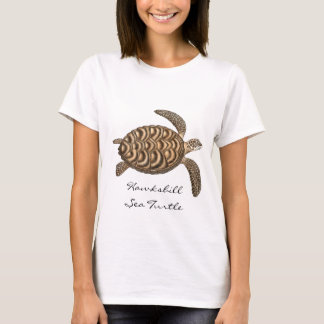 Hawksbill Sea Turtle Ladies Baby Doll Shirt
