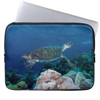 Hawksbill Sea Turtle on the Great Barrier Reef Laptop Sleeves