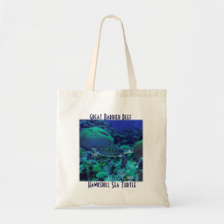 Hawksbill Sea Turtle on the Great Barrier Reef Tote Bag