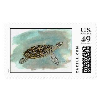 Hawksbill Sea Turtle Postage Stamp