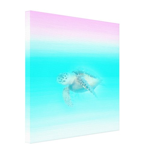 Hawksbill Sea Turtle   Stretched Canvas Print