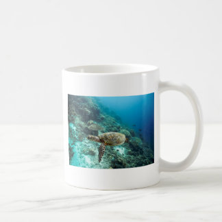 Hawksbill sea turtle underwater Raja Ampat islands Coffee Mug
