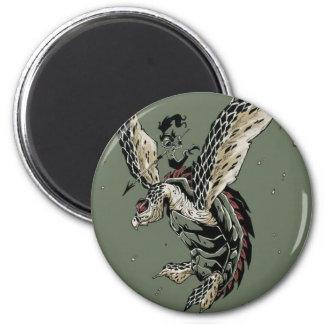 HawksBill Warrior 2 Inch Round Magnet