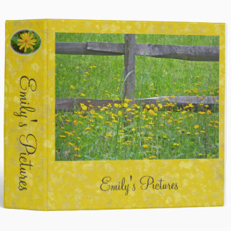 Hawkweed Wildflower at Split Rail Fence Binder