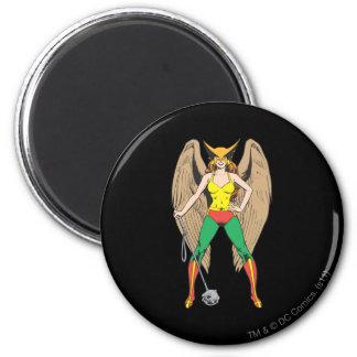 Hawkwoman Imán Redondo 5 Cm