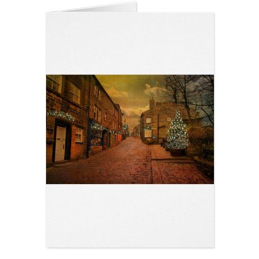 Haworth en el navidad tarjeton
