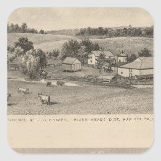 Hawpe, Seawright residences Square Sticker