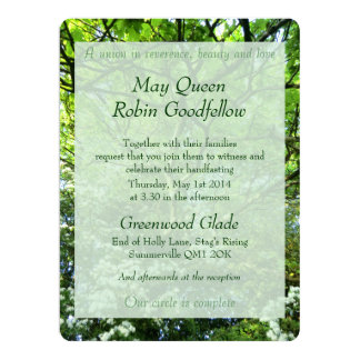 Hawthorn And Oak Handfasting Invitation