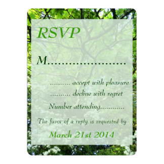 Hawthorn and Oak Handfasting RSVP Card