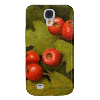 Hawthorn Berries in Color Pencil: Original Art Galaxy S4 Case