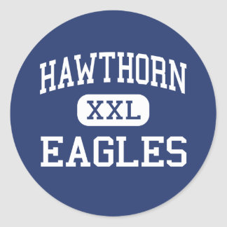 Hawthorn Eagles Middle Vernon Hills Illinois Classic Round Sticker