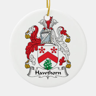 Hawthorn Family Crest Ceramic Ornament