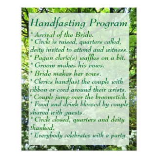 Hawthorn & Oak Handfasting Program with Notes Custom Flyer