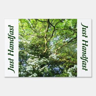 Hawthorn & Oak Pagan Yard Sign Just Handfast