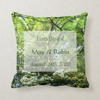 Hawthorn & Oak Pillow Handfasting Gift for Pagans