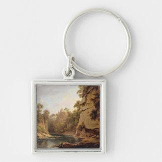 Hawthornden Castle, near Edinburgh, c.1820-22 (oil Keychain